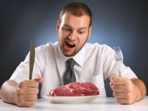 肉食は髭を濃くする
