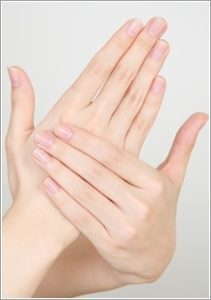 ほっそりとした指