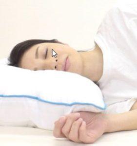 沈み込む枕は安眠できない