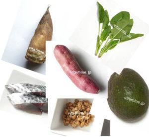 カリウムを多く含み食品